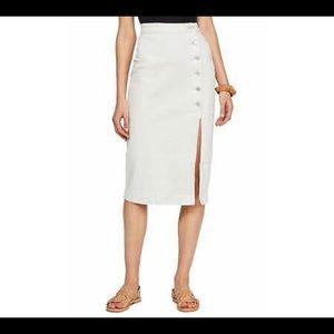 Free People white Jasmine button midi skirt size 4